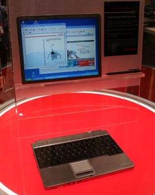 Toshiba et son tablet pc avec cran wi fi d tachable for Ecran pc son