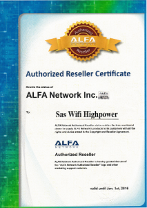 Vendeur officiel Alfa Network