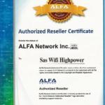 Revendeur officiel Alfa Network: Wifi Highpower à nouveau certifié pour 2015